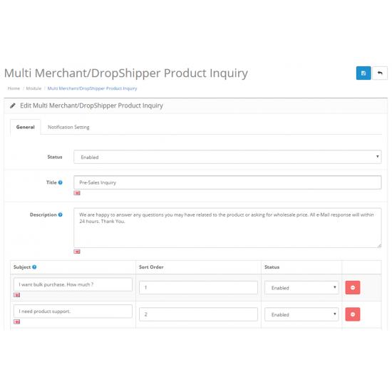 Multi Merchant / Dropshipper Product Inquiry 3.0