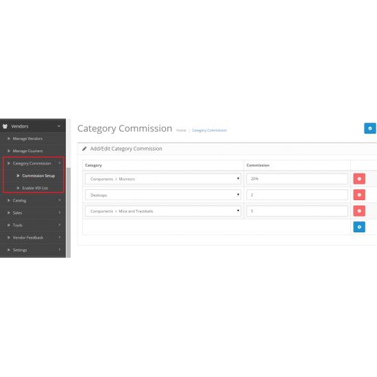 Multi Vendor / Drop Shipper Category Commission Module