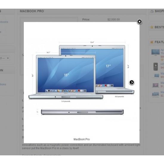 Product Image FancyBox Effect (OpenCart Addon)