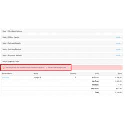 MinMax Order Limit