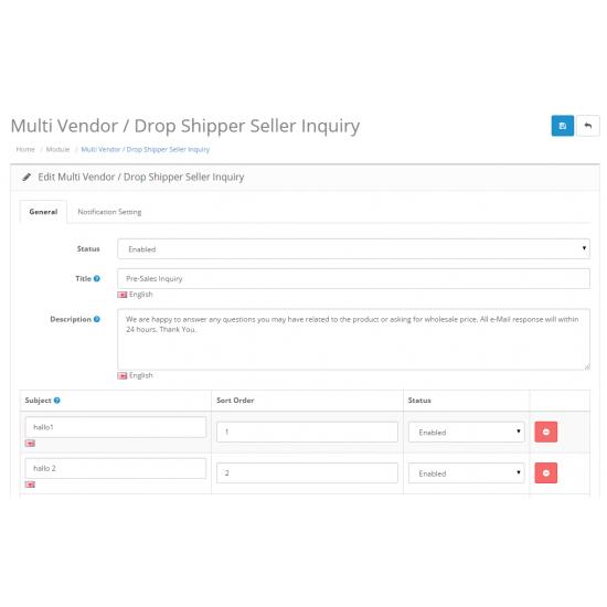Multi Vendor / Dropshipper Product Inquiry
