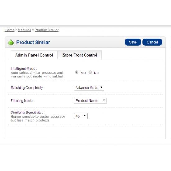 Product Similar (OpenCart Addon - vQmod)
