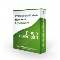 Promotional Labels Economic  (OpenCart Addon)
