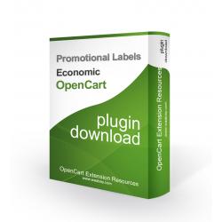 Promotional Labels Economic  (OpenCart Addon)
